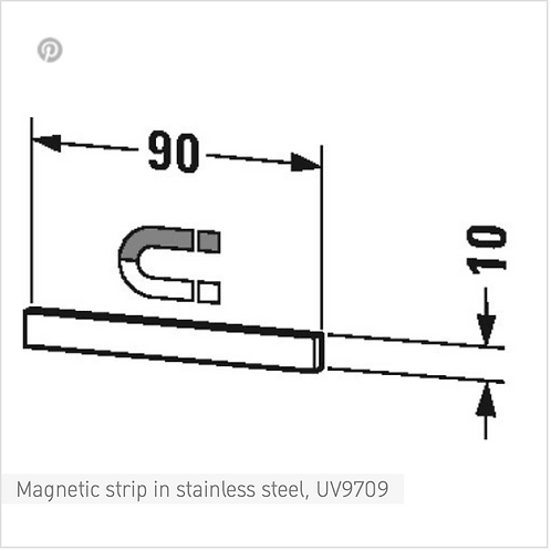 Duravit Accessories Magnetic Strip In Stainless Steel 90mm x 10mm