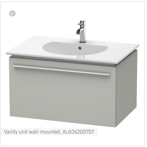X-Large Vanity unit wall-mounted 800 x 522 mm