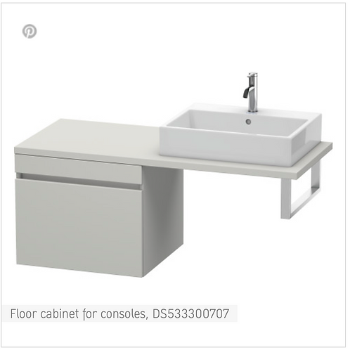 DuraStyle Floor cabinet for consoles 600mm x 548m