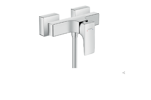 Hansgrohe Metropol Single lever manual shower mixer for exposed installation wit