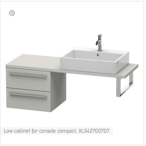 Duravit X-Large Low Cabinet For Console Compact 500mmx 478mm