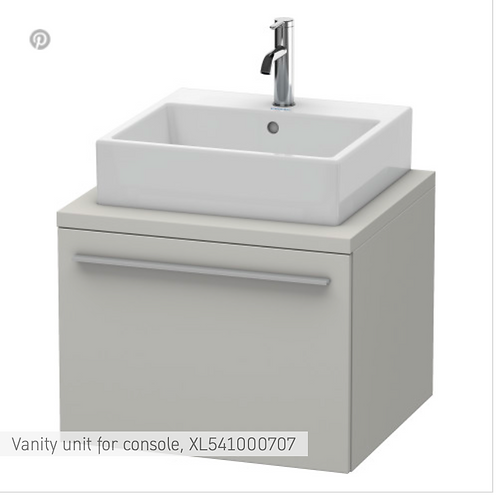 X-Large Vanity Unit For Console 600mm x 548mm
