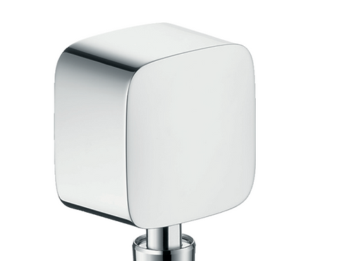 Hansgrohe FixFit Wall outlet with non-return valve and pivot joint