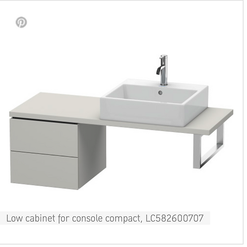 Duravit L-Cube Low Cabinet For Console Compact 420mm x 477mm