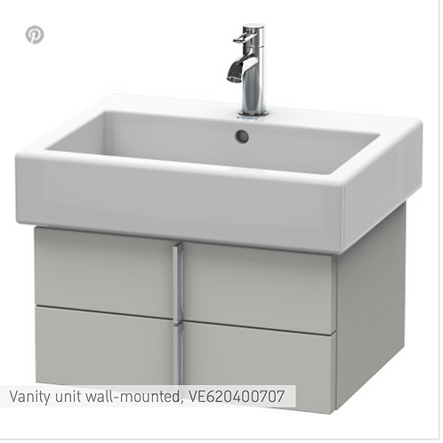 Vero Vanity unit wall-mounted 550mm x 431mm