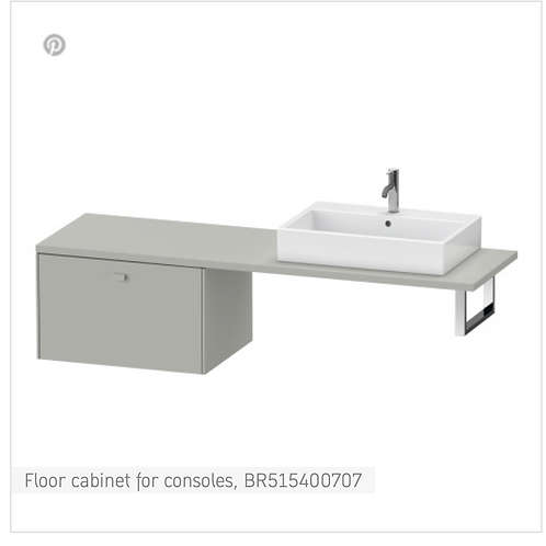 Brioso Vanity unit for console 720mm x 55Omm