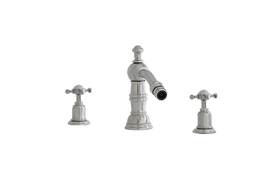 copy o Perrin & Rowe Traditional Three Hole Bidet Mixer with Country Spout and C