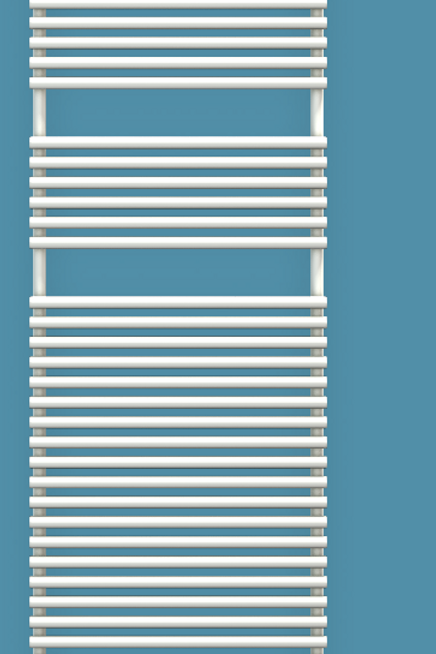 Bisque Straight Fronted 1876mm x 596mm Towel Rail - Electric