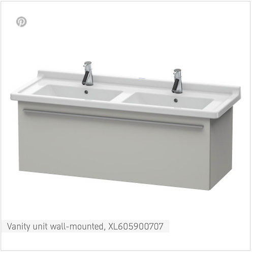 X-Large Vanity unit wall-mounted 1200 x 468 mm