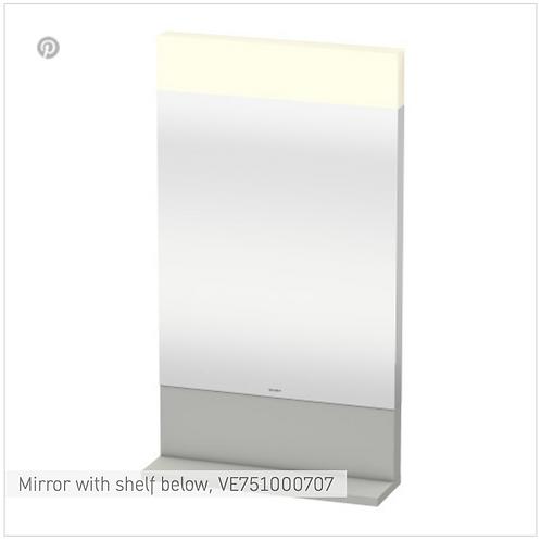Vero Mirror with shelf below 450mm x 142mm