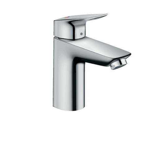 Hansgroe Logis Single lever basin mixer 100 CoolStart with pop-up waste