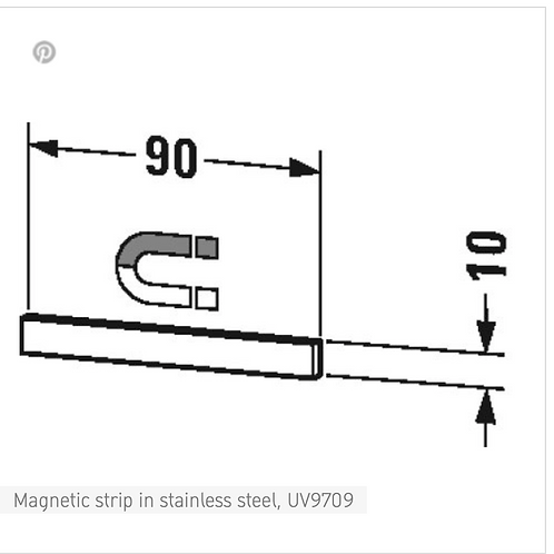 Accessories Magnetic strip in stainless steel 90 mm