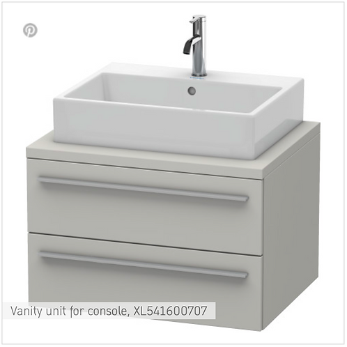 X-Large Vanity unit for console 700mm x 548mm