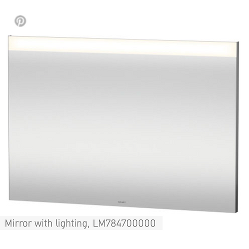 Duravit Universal Light And Mirror Mirror With Lighting 1000mm x 35mm