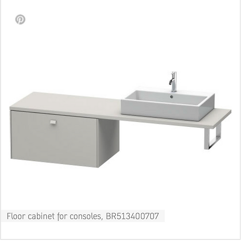 Brioso Vanity unit for console 820mm x 550mm