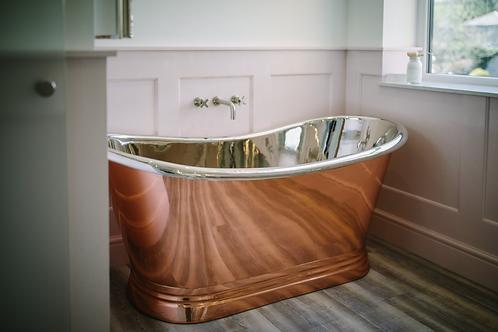 BC Designs Copper/Nickel Boat Bath 1700mm