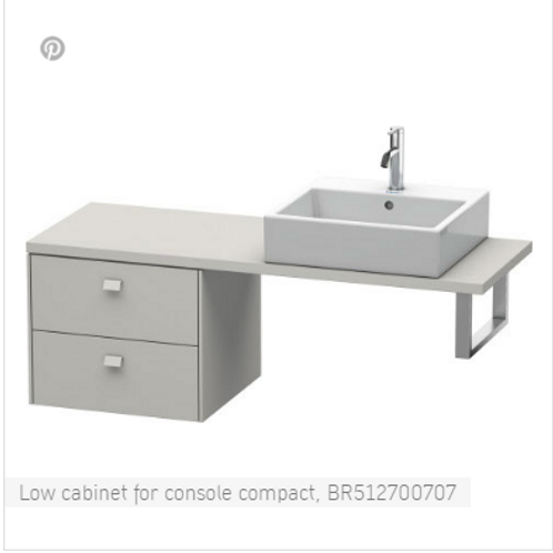 Duravit Brioso Low Cabinet For Console Compact 620mm x 480mm