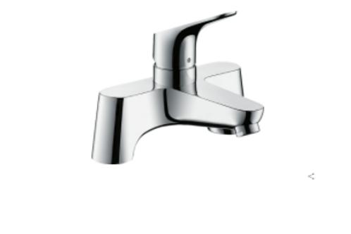Hansgrohe Focus 2-hole rim-mounted manual single lever bath mixer LowPressure mi