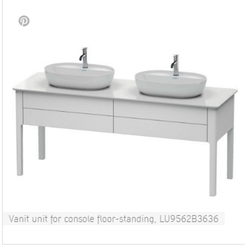 Duravit LUV Vanity Unit For Console Floor Standing 1733mm x 570mm