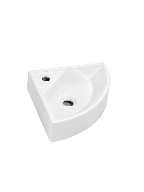 Cifial F7 Corner Cloakroom Basin 1 Tap Hole