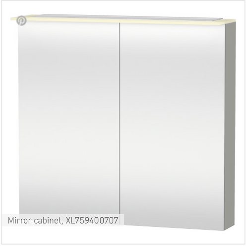 X-Large Mirror cabinet 800 x 138/208 mm