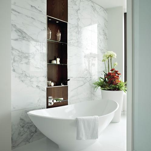 BC Designs Kurv Cian Solid Surface Bath 1890 x 900mm