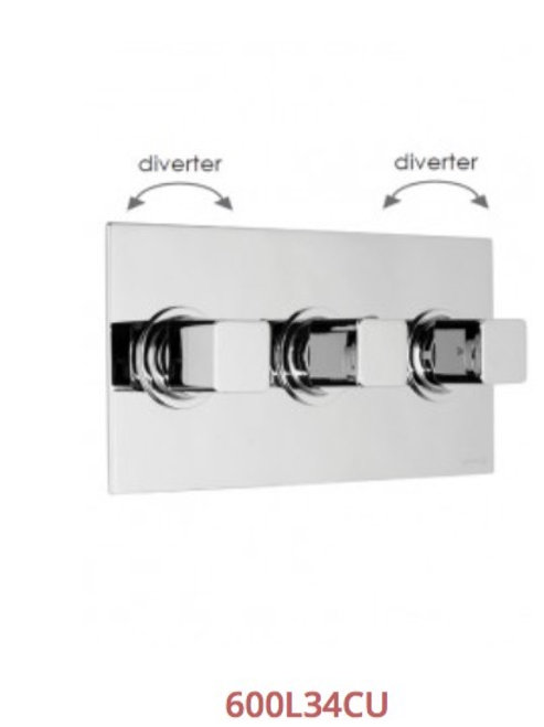 Cifial Cudo 3 Control Landscape Thermostatic Valve With Double Diverter