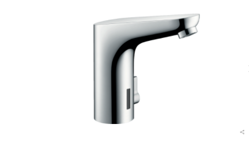 Hansgrohe Focus Electronic basin mixer 130 with temperature control and battery-