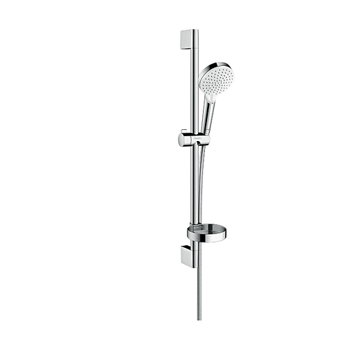 Hansgrohe Crometta Shower set 100 Vario with shower rail 65 cm and soap dish