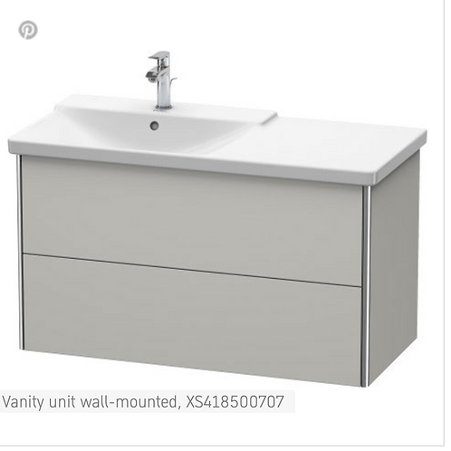 XSquare Vanity unit wall-mounted 1010 x 473 mm