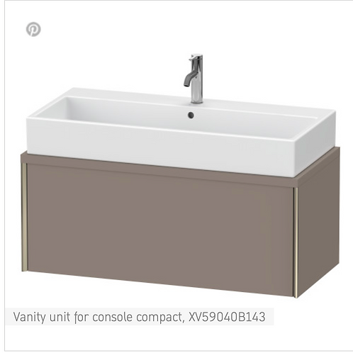 XViu Vanity unit for console compact 1000mm x478mm