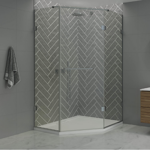 Shower Lab - View 25 - 135° Neo Angle Enclosure 2000 x 1400mm