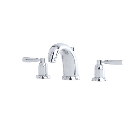 Perrin & Rowe Contemporary Three-Hole Basin Set with Lever Handles