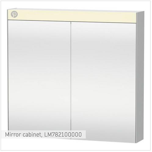 Duravit Universal Light And Mirror Mirror Cabinet 810mm x 148mm