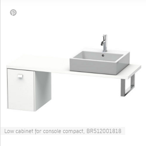 Duravit Brioso Low Cabinet For Console 520mm x 480mm