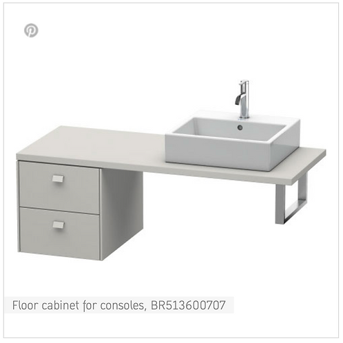 Brioso Vanity unit for console 420mm x 550mm