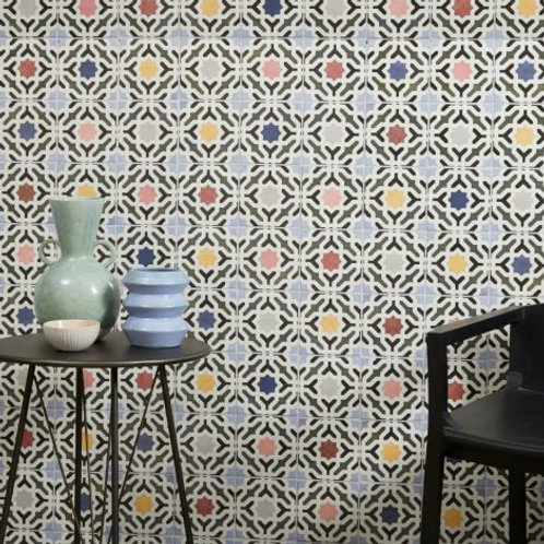 Bazaar Ceramic Pattern Multi 13.2 x 13.2cm Price Per Sqm