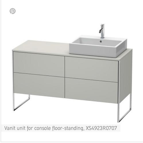 XSquare Vanit unit for console floor-standing 1400 x 548 mm
