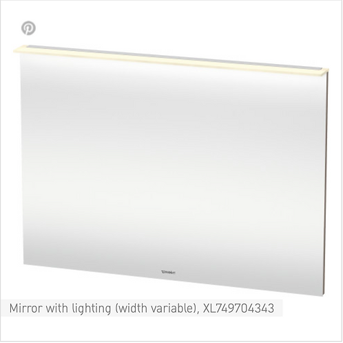 X-Large Mirror with lighting (width variable) Model-No. XL7497 IP 44, LED dimmin