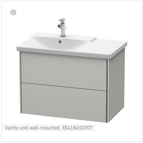 XSquare Vanity unit wall-mounted 810 x 473 mm