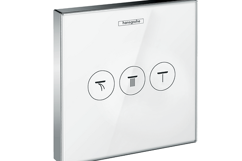 Hansgrohe ShowerSelect Glass Valve for concealed installation for 3 outlets