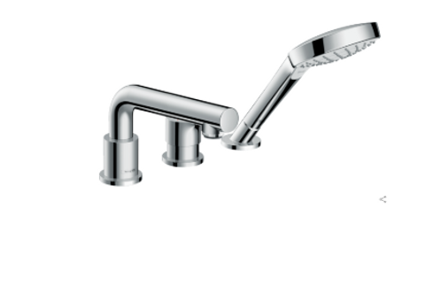 Hansgrohe Talis S 3-hole rim-mounted single lever bath mixer