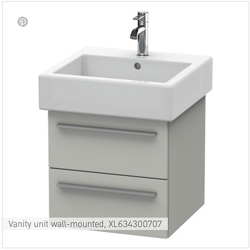 X-Large Vanity unit Wall Mounted 450 x 443 mm