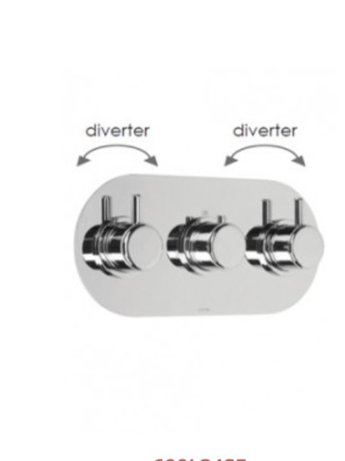 Cifial Technovation 35 3 control Thermostatic Shower Valve With Double Diverter