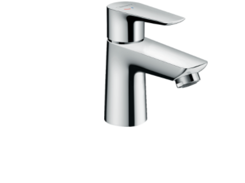 Hansgroe Talis E Single lever basin mixer 80 CoolStart with pop-up waste