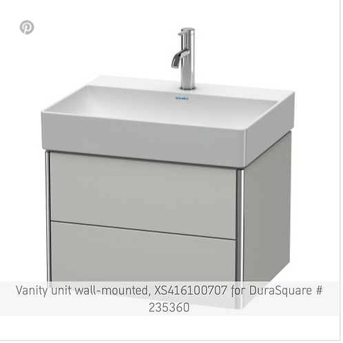 XSquare Vanity unit wall-mounted 584 x 460 mm