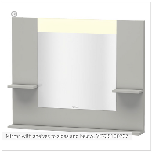 Vero Mirror with shelves to sides and below 1000mmx 142mm