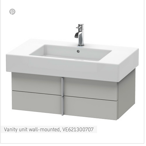 Vero Vanity unit wall-mounted 800mm x 466mm