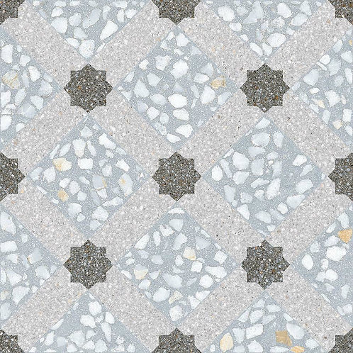 Venice Porcelain Blue Crisscross 30 x 30cm Price Per Sqm