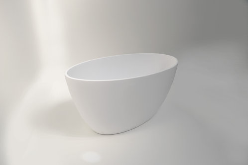 BC Designs Vive Cian Solid Surface Bath (White Silk Matt)  1510 x 760mm